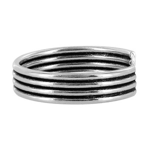 Sterling Silver Four Wire Design Toe Ring