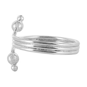 Sterling Silver Wire Design with Ball Toe Ring