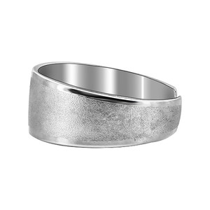 925 Sterling Silver Sandblasted with Shiny Toe Ring #T004