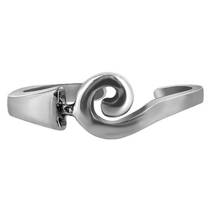 Sterling Silver Curl Design Toe Ring