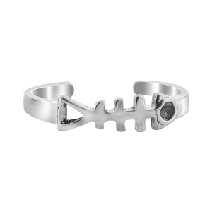 925 Sterling Silver Fish bone Toe Ring