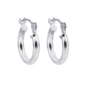 2mm wide Tube 925 Sterling Silver 12mm Hoop Earrings