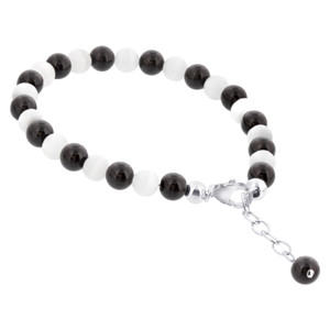 Onyx Gemstone & Cats Eye Bracelet
