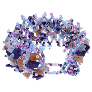 Multicolor Resin 7 inch Cluster Beads Bracelet
