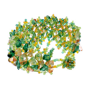 Green and Yellow Beads Bracelet