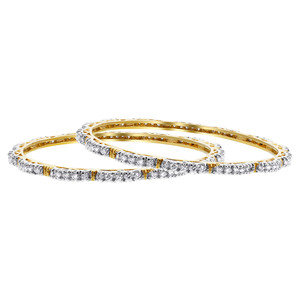 Clear Stones Bollywood Indian Bangle Bracelets