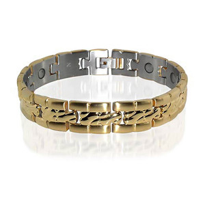 Stainless Steel Mens New Magnetic Bracelet  8.75 Inches
