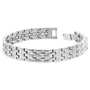 Stainless Steel Magnetic Therapy Men's Link Bracelet