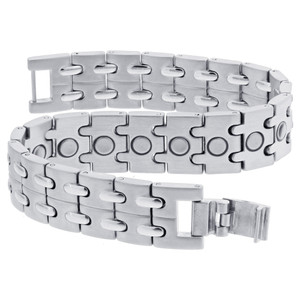 Men's Stainless Steel Magnetic Therapy Bracelet