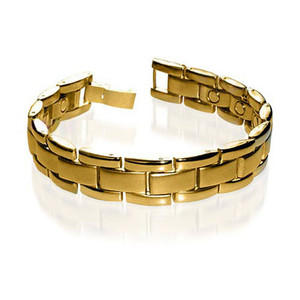 Stainless Steel New Mens Magnetic Bracelet 8.5 Inches