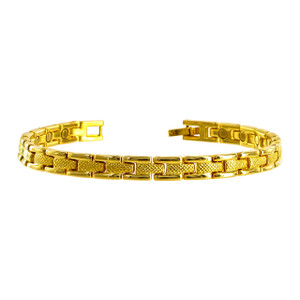 Gold Tone Magnetic Therapy Bracelet