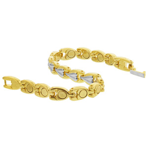 Two Tone Finish Magnetic Link Bracelet