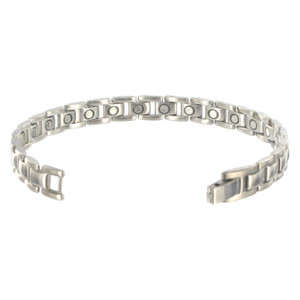 Titanium Magnetic Link Therapy 8 inch Bracelet with Fold over Clasp
