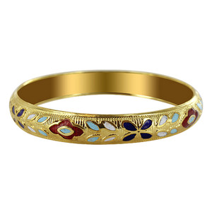 Gold Tone Enamel Design Fashion Bracelet