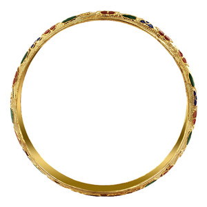 10mm wide Gold Tone Fashion Bangle Bracelet Size  2.6 inside 2.8 inch