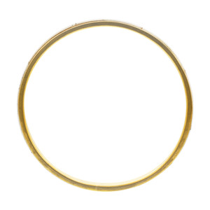 Gold Plated Bone Inlay Vintage Style Bangle Bracelet