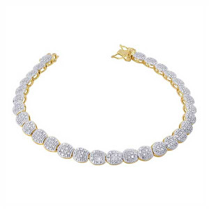Gold over Silver December Birthstone Bracelet
