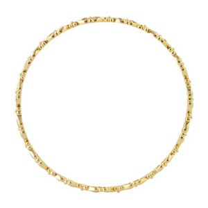 Gold over Silver Vermeil Bangle Bracelet