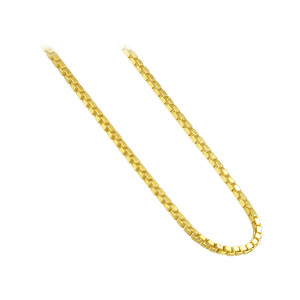 14K Gold over 925 Silver Vermeil Box Chain Bracelet