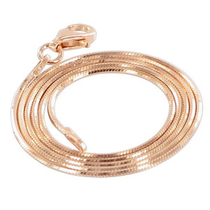 14k Rose Gold over 925 Silver Vermeil Snake Chain Bracelet