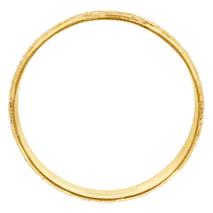 Gold Plated Carved Design Kada Bangle 11mm Bracelets