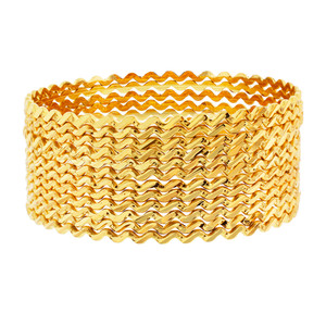Bollywood Indian Gold Plated Zig Zag Design Bangle Bracelets