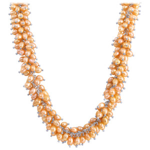 Pink Rice Pearl Necklace