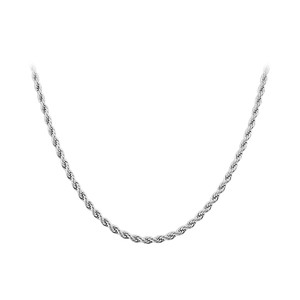 Men's Stainless Steel 3mm wide Rope Chain Necklace