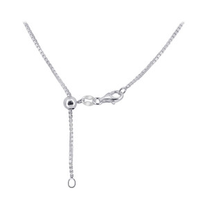 Sterling Silver Length Adjustable Box Chain Necklace