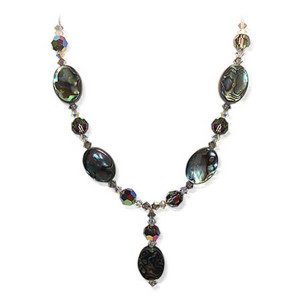 Swarovski Crystal Dyed Abalone Necklace