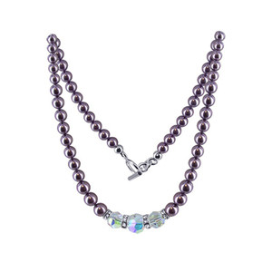 Pearl Swarovski Crystal Necklace