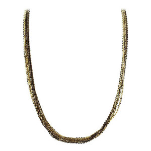"Mens Rhodium Plated Silver 7mm Omega Chain 17 - 19"" Necklace"