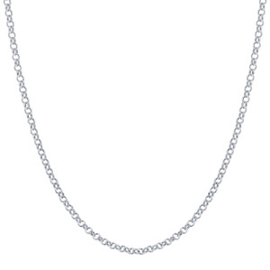 Italian 925 Sterling Silver 1mm Rolo Sturdy Chain Necklace 14 inch - 30 inch