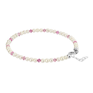 925 Silver White Freshwater Pearl Anklet