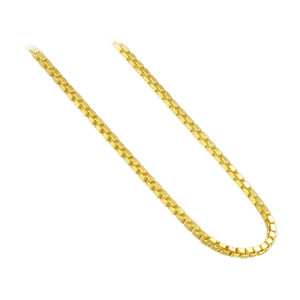 14k Gold over Sterling Silver Vermeil Box 1mm Chain Ankle Bracelet #BDAGP001
