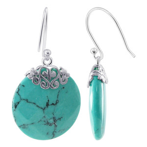 Turquoise Earrings Pendant Set
