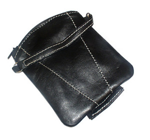 New Lambskin Black Leather Change Purse Money Wallet