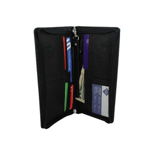Travel Passport Boarding Pass Ticket Black Wallet