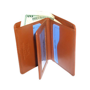 New Genuine Leather Handmade Credit Card Holder Tan Wallet