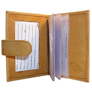 Cowhide Leather Credit Card Holder Wallet Available in Different Colors