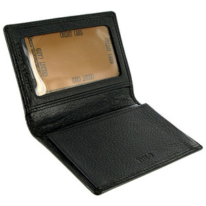 MW580 3 x 4 inch Mens Leather Credit Card Holder Wallet Available in Different Colors