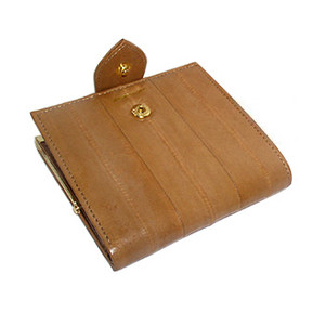 New EEL Skin Leather Organiser Money Wallet Card Holder