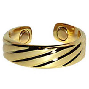 Gold Plated Magnetic Band Fits Size 7 and Above