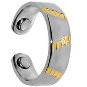 Two Tone Magnetic Band Fits Size 7 and up #JRM14
