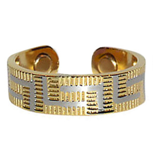 Two Tone Striped Magnetic Band Fits Size 7 & Above
