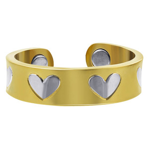 Two Tone Heart Magnetic Band Size 7 and up #JRMLR235TTG