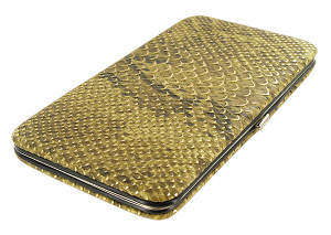 Fashionable and Functional Slim Metallic Golden Wallet