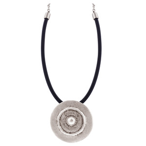 Zinc 8mm Coin 18 to 21 Inch Necklace Adjustable with Chain
