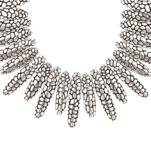 Zinc Oxidised Patterns 19 to 21.5 Inch Necklace with Chain