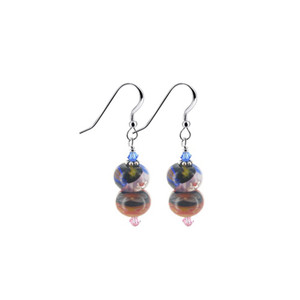 Swarovski Crystal Millefiori Glass Multicolor Drop Earrings